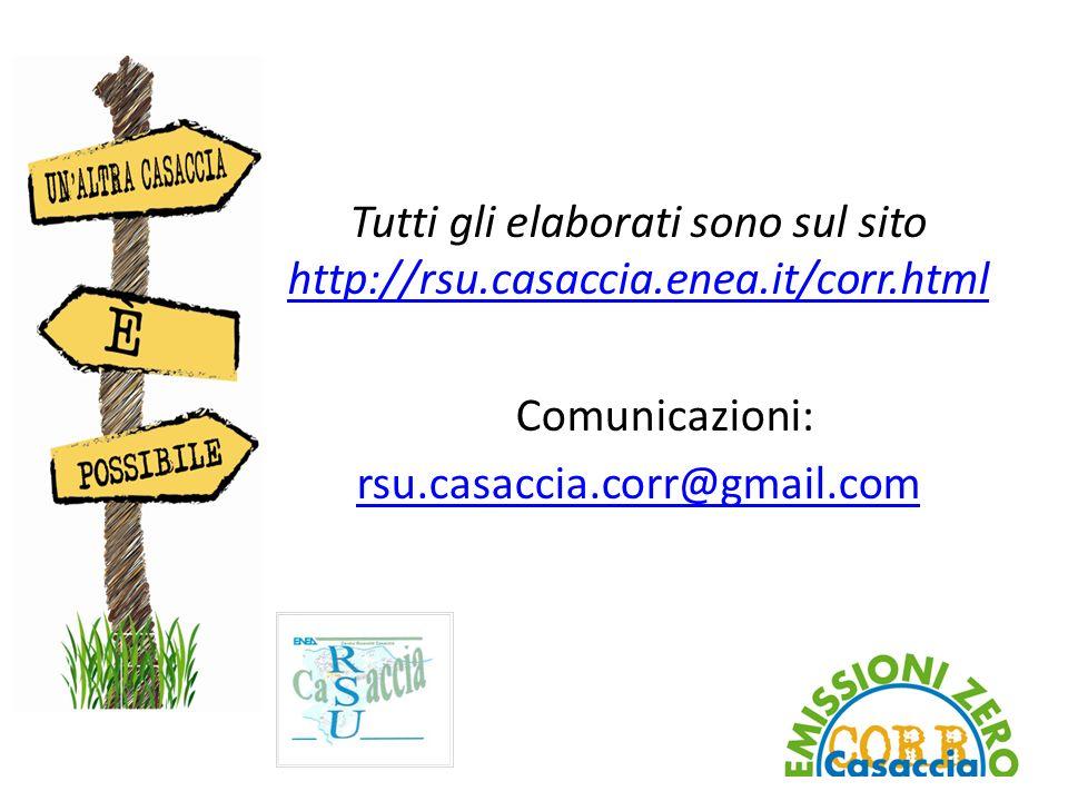 Tutti gli elaborati sono sul sito http://rsu.casaccia.enea.it/corr.html http://rsu.casaccia.enea.it/corr.html Comunicazioni: rsu.casaccia.corr@gmail.com