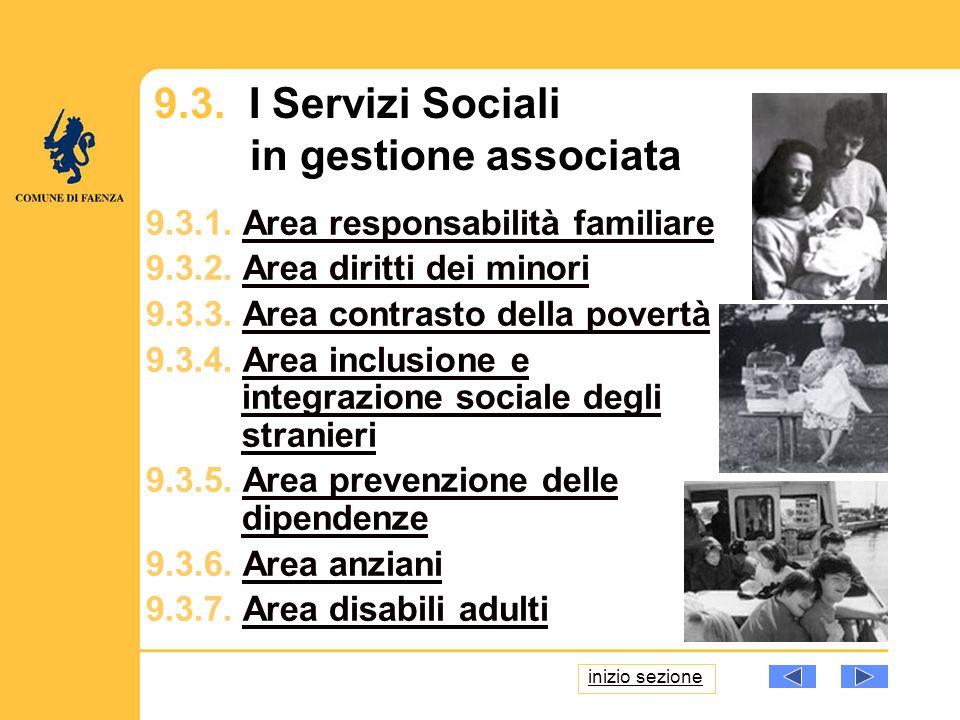 9.3. I Servizi Sociali in gestione associata 9.3.1.