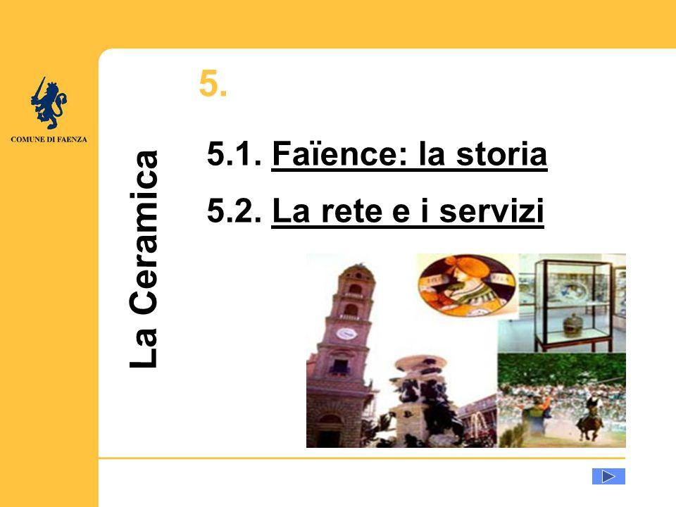 La Ceramica 5.1. Faïence: la storiaFaïence: la storia 5.2. La rete e i serviziLa rete e i servizi 5.
