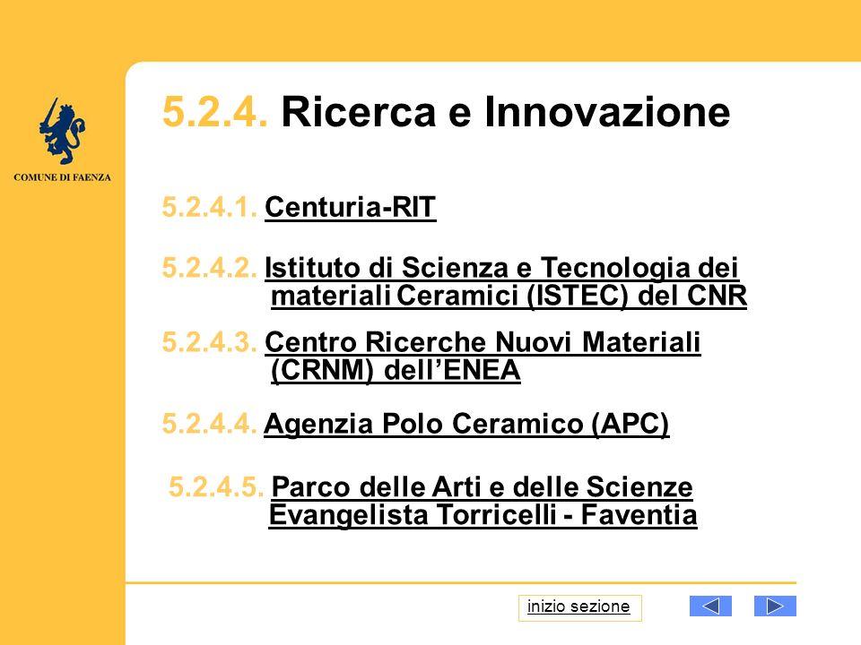 5.2.4.1. Centuria-RITCenturia-RIT 5.2.4.2. Istituto di Scienza e Tecnologia dei materiali Ceramici (ISTEC) del CNRIstituto di Scienza e Tecnologia dei