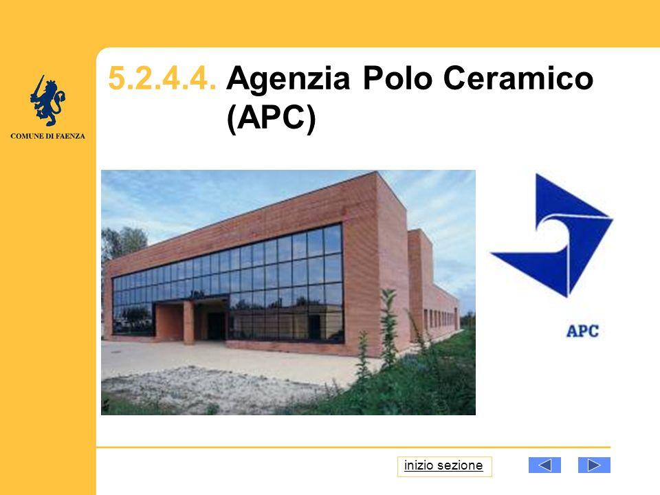 5.2.4.4. Agenzia Polo Ceramico (APC) inizio sezione