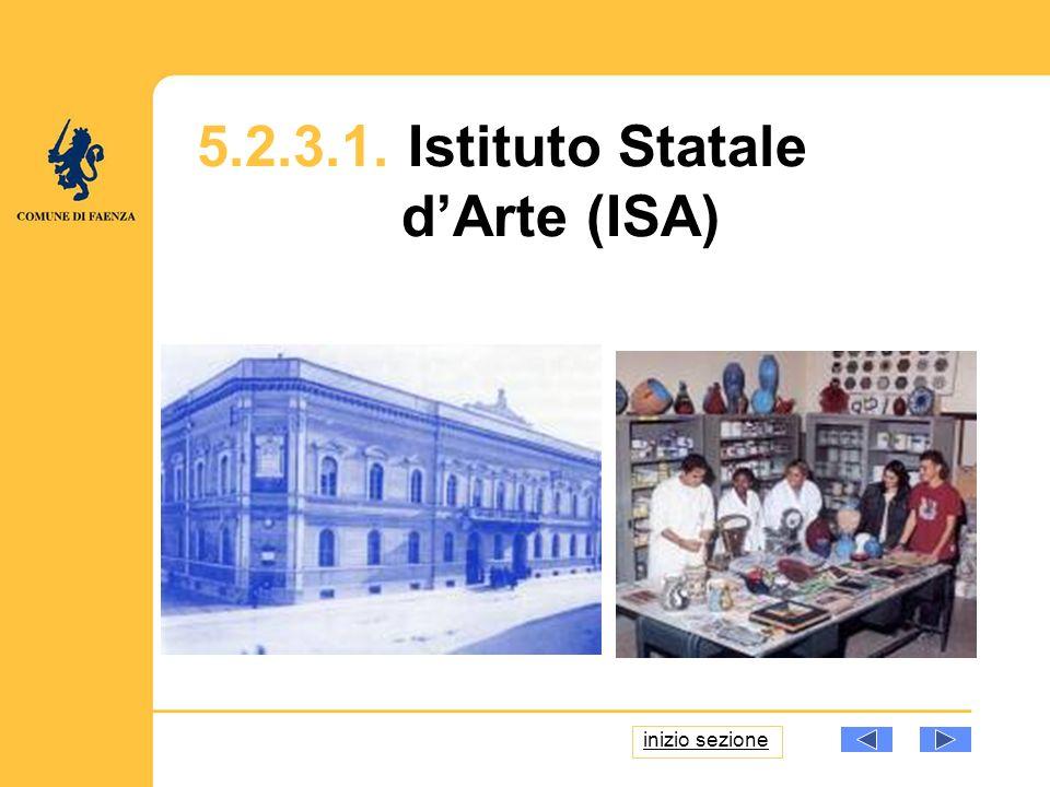 5.2.3.1. Istituto Statale dArte (ISA) inizio sezione