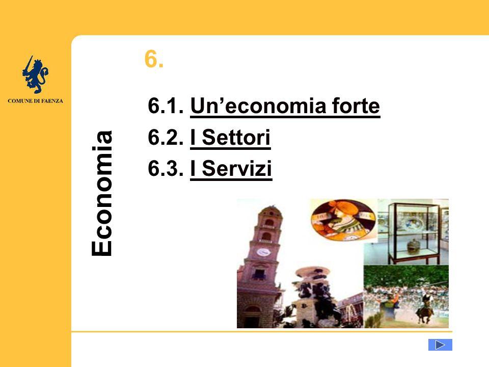u Economia 6. 6.1. Uneconomia forteUneconomia forte 6.2. I SettoriI Settori 6.3. I ServiziI Servizi