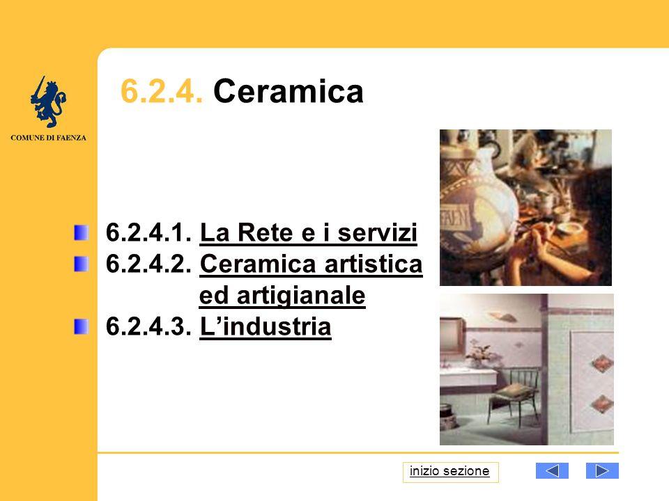 6.2.4. Ceramica 6.2.4.1. La Rete e i serviziLa Rete e i servizi 6.2.4.2.