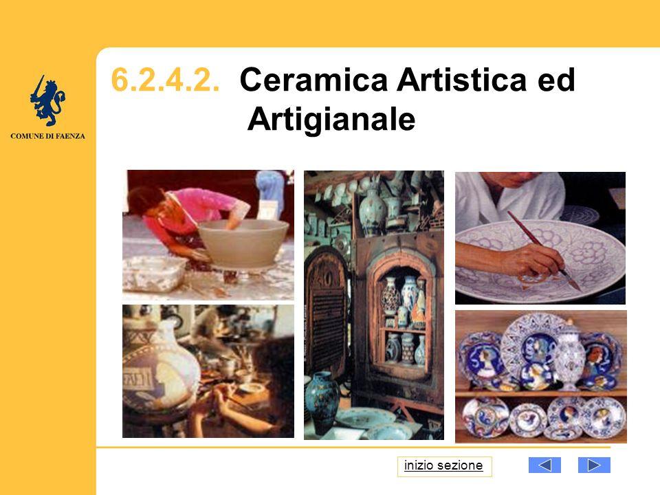 6.2.4.2. Ceramica Artistica ed Artigianale inizio sezione
