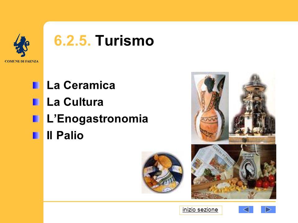 La Ceramica La Cultura LEnogastronomia Il Palio 6.2.5. Turismo inizio sezione