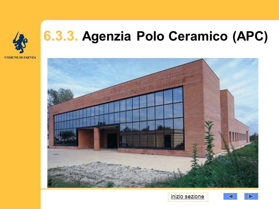 6.3.3. Agenzia Polo Ceramico (APC) inizio sezione