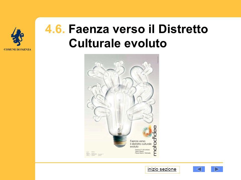 4.6. Faenza verso il Distretto Culturale evoluto