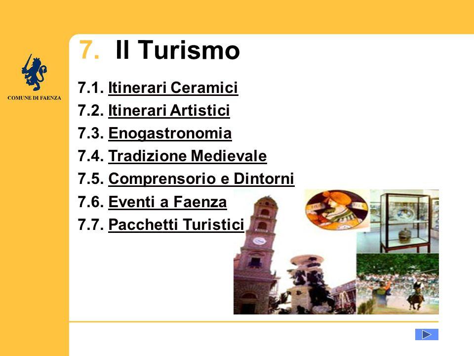 7.1. Itinerari CeramiciItinerari Ceramici 7.2. Itinerari ArtisticiItinerari Artistici 7.3.