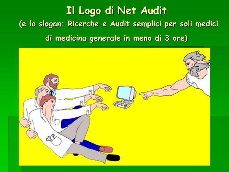 Il Logo di Net Audit (e lo slogan: Ricerche e Audit semplici per soli medici di medicina generale in meno di 3 ore)