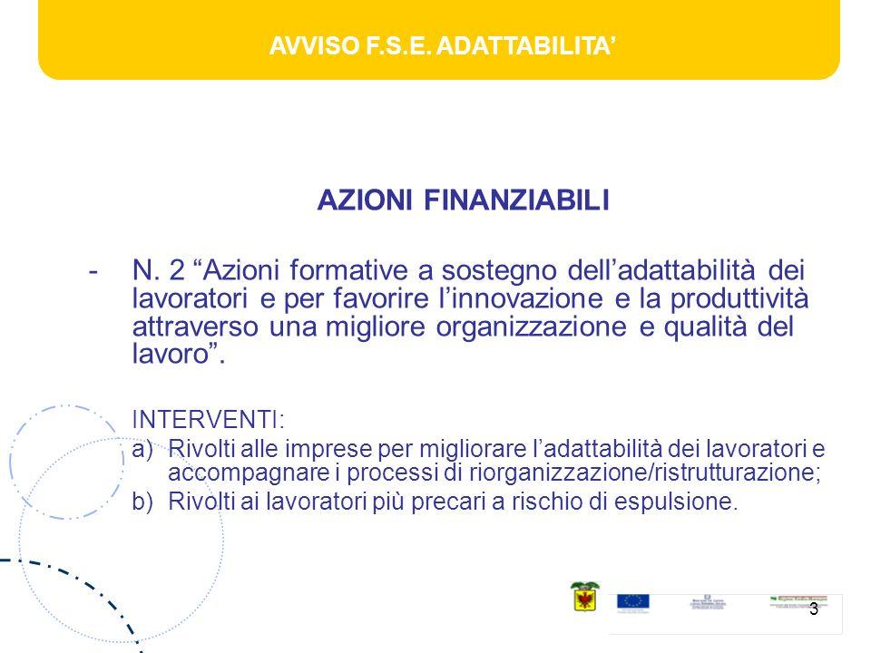 AVVISO F.S.E. ADATTABILITA 3 AZIONI FINANZIABILI -N.