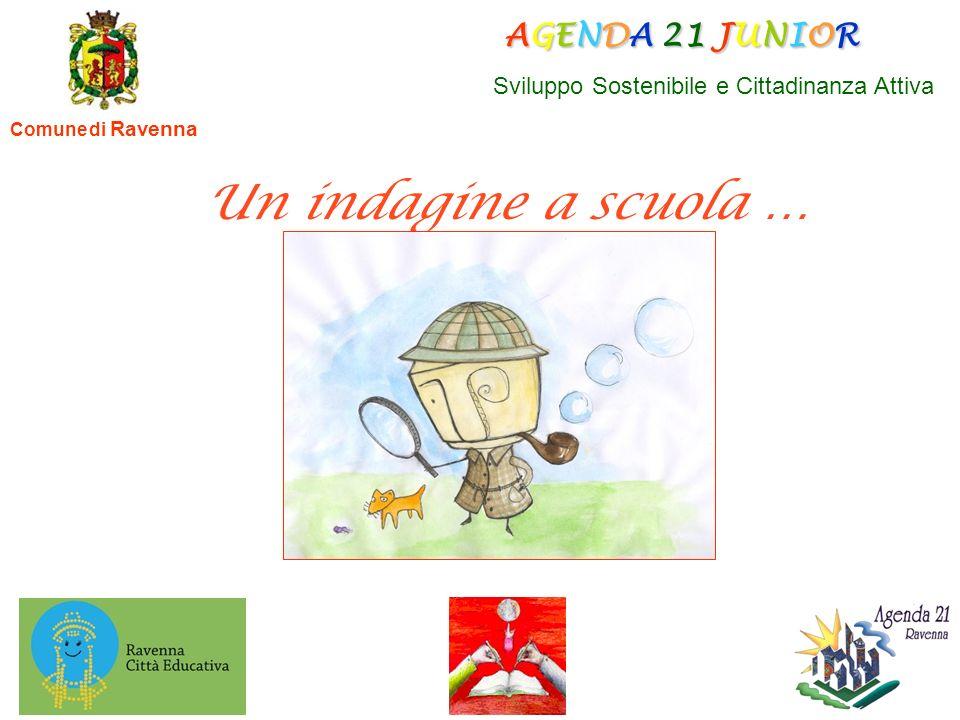 Comune di Ravenna AGENDA 21 JUNIOR AGENDA 21 JUNIOR Sviluppo Sostenibile e Cittadinanza Attiva Un indagine a scuola …