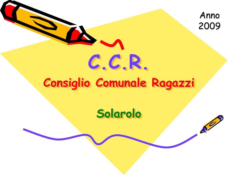 C.C.R. Consiglio Comunale Ragazzi Solarolo Anno 2009