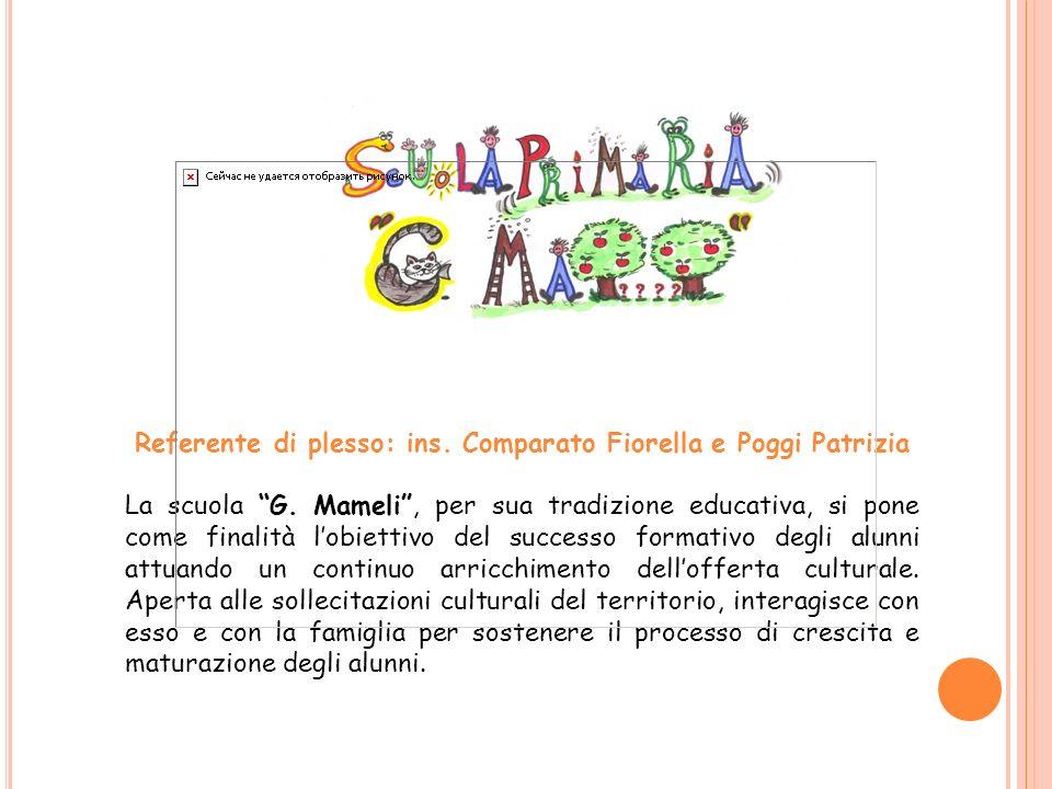 Referente di plesso: ins.Comparato Fiorella e Poggi Patrizia La scuola G.
