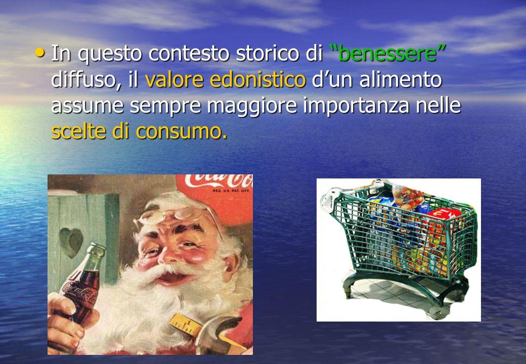 In questo contesto storico di benessere diffuso, il valore edonistico dun alimento assume sempre maggiore importanza nelle scelte di consumo.