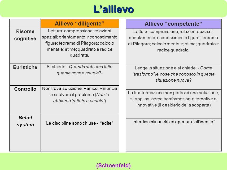 Lallievo Ischia 2010 Damiano Previtali 14 Allievo diligente Risorse cognitive Lettura; comprensione; relazioni spaziali; orientamento; riconoscimento