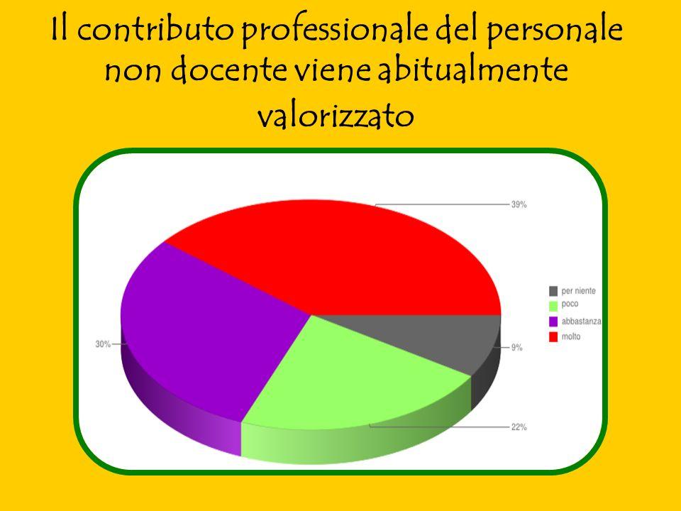 Il contributo professionale del personale non docente viene abitualmente valorizzato