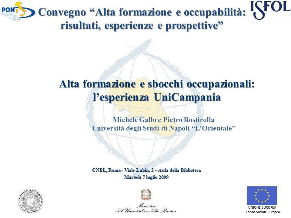 Obiettivi Individuare i punti di forza e di debolezza della formazione dottorale erogata in Campania da parte dei cinque Atenei che partecipano al progetto.