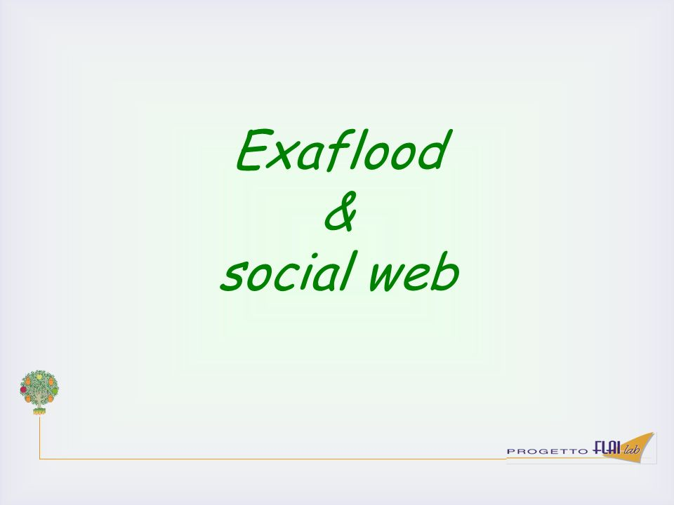 Exaflood & social web