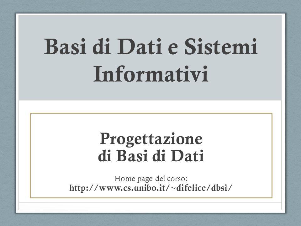 Progettazione di DB Negli esempi visti finora, abbiamo studiato come implementare una base di dati in SQL, a partire da uno schema gia definito.