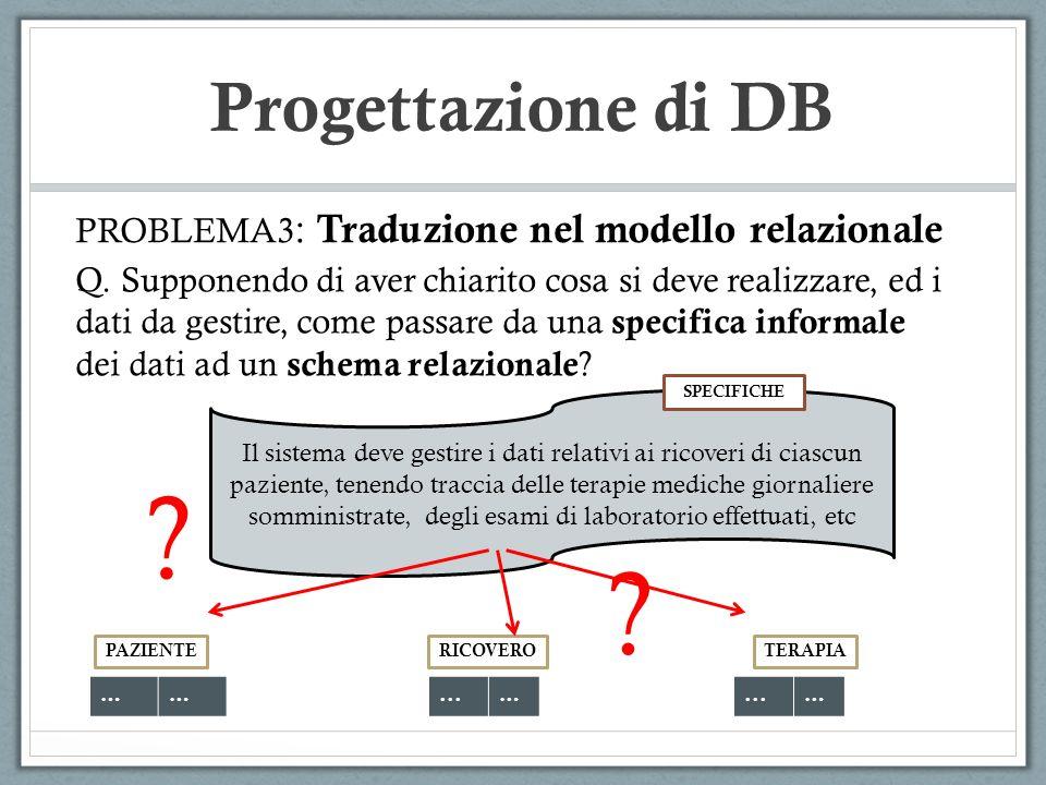 Progettazione di DB Come procedere.