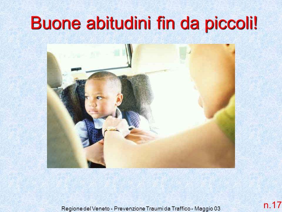 Regione del Veneto - Prevenzione Traumi da Traffico - Maggio 03 Buone abitudini fin da piccoli! n.17