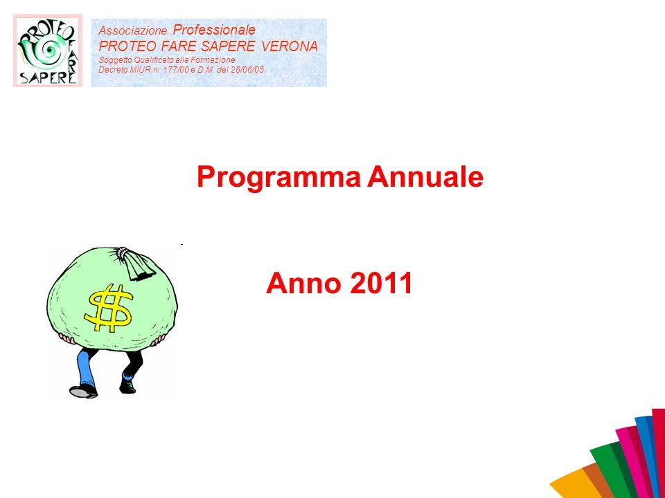 Associazione Professionale PROTEO FARE SAPERE VERONA Soggetto Qualificato alla Formazione Decreto MIUR n. 177/00 e D.M. del 28/06/05 Programma Annuale