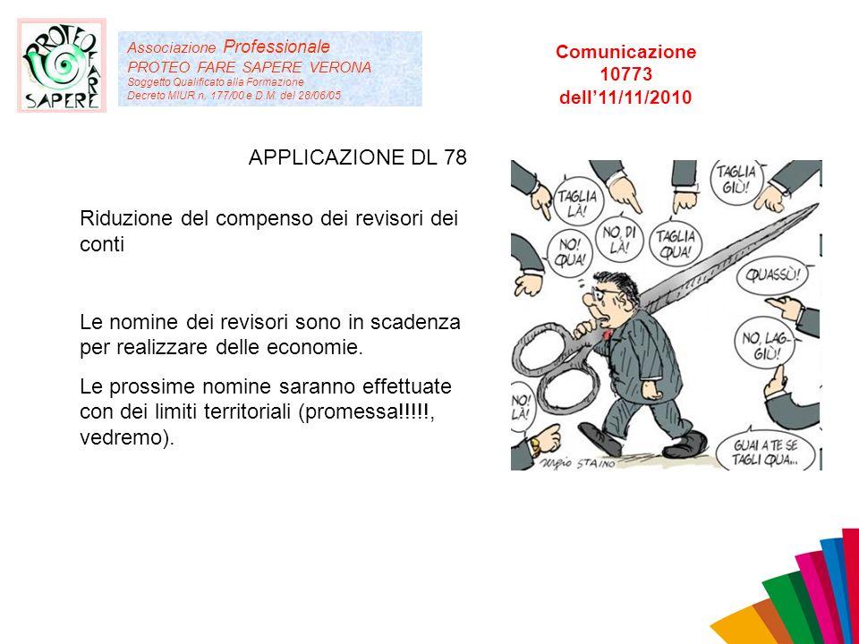 Associazione Professionale PROTEO FARE SAPERE VERONA Soggetto Qualificato alla Formazione Decreto MIUR n. 177/00 e D.M. del 28/06/05 APPLICAZIONE DL 7