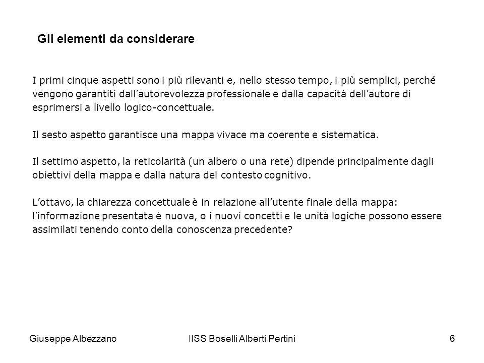 IISS Boselli Alberti Pertini6 I primi cinque aspetti sono i più rilevanti e, nello stesso tempo, i più semplici, perché vengono garantiti dallautorevolezza professionale e dalla capacità dellautore di esprimersi a livello logico-concettuale.
