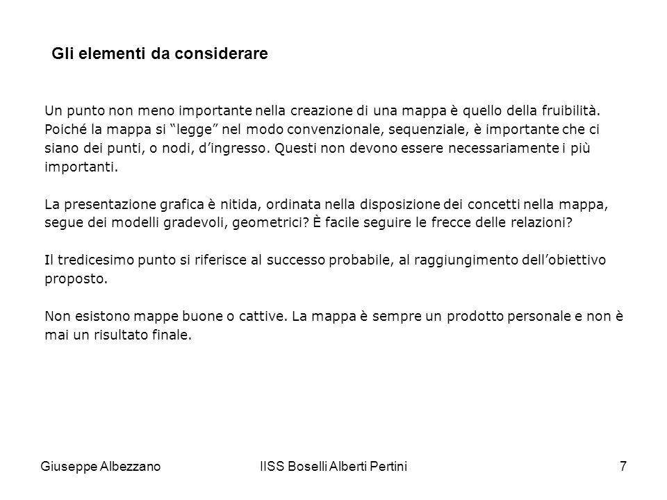 IISS Boselli Alberti Pertini7 Un punto non meno importante nella creazione di una mappa è quello della fruibilità. Poiché la mappa si legge nel modo c