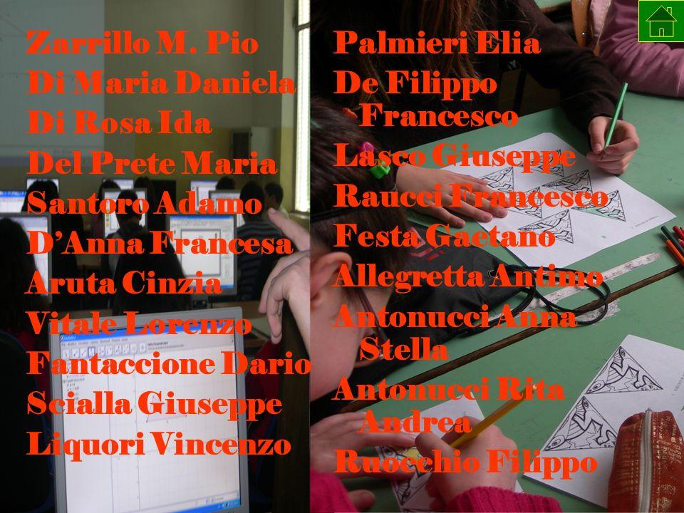 Gli alunni Zarrillo M. Pio Di Maria Daniela Di Rosa Ida Del Prete Maria Santoro Adamo DAnna Francesa Aruta Cinzia Vitale Lorenzo Fantaccione Dario Sci