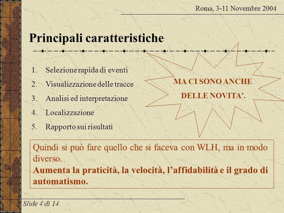 SisPick! è una novità? Roma, 3-11 Novembre 2004 SisPick! non è WLH 2.0 Il sistema è stato completamente riprogettato GRAZIE soprattutto allesperienza