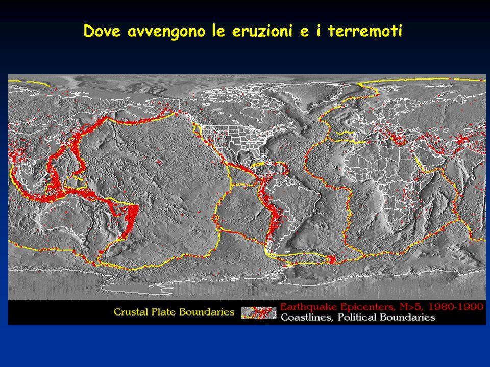 Dove avvengono le eruzioni e i terremoti