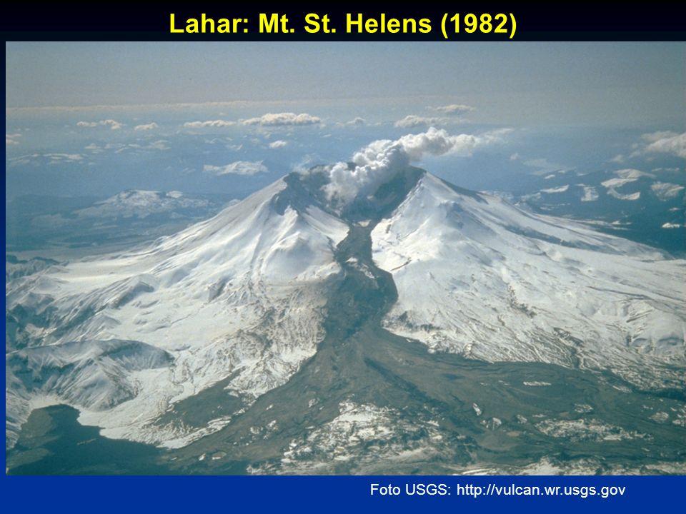 Foto USGS: http://vulcan.wr.usgs.gov Lahar: Mt. St. Helens (1982)