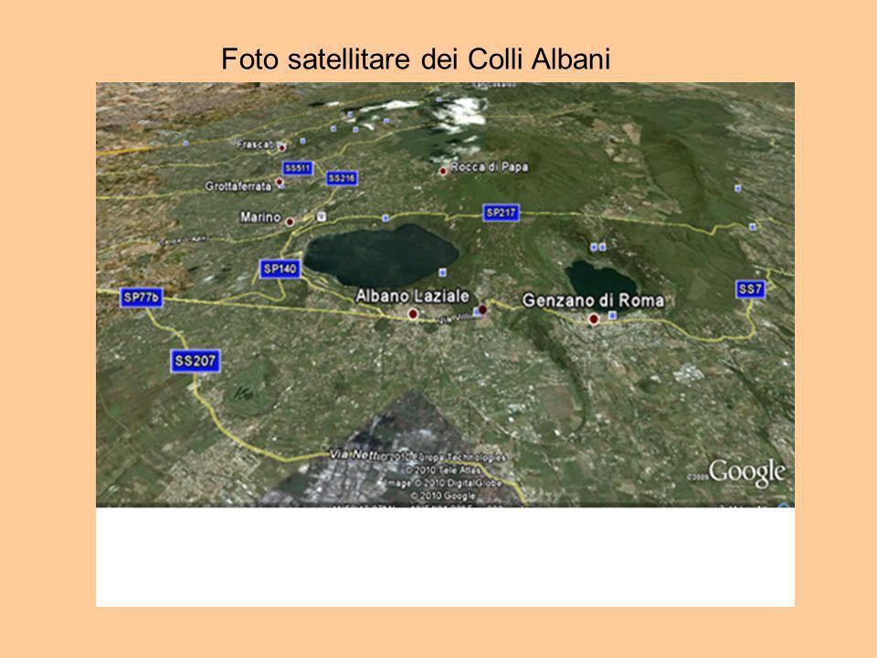 Foto satellitare dei Colli Albani