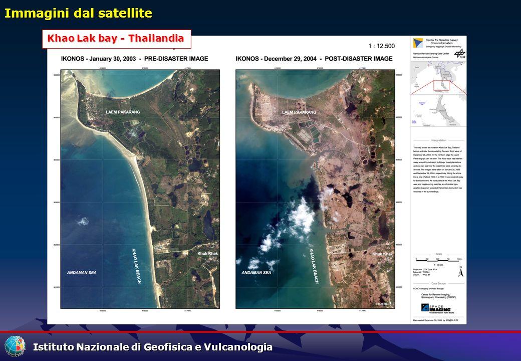 Istituto Nazionale di Geofisica e Vulcanologia Immagini dal satellite Khao Lak bay - Thailandia