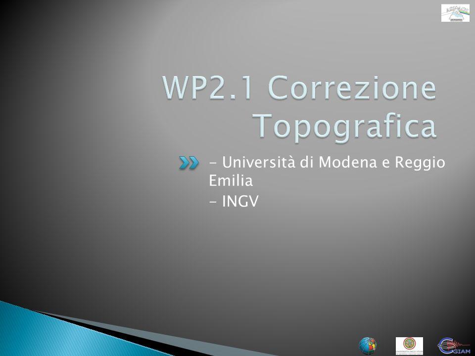 - Università di Modena e Reggio Emilia - INGV