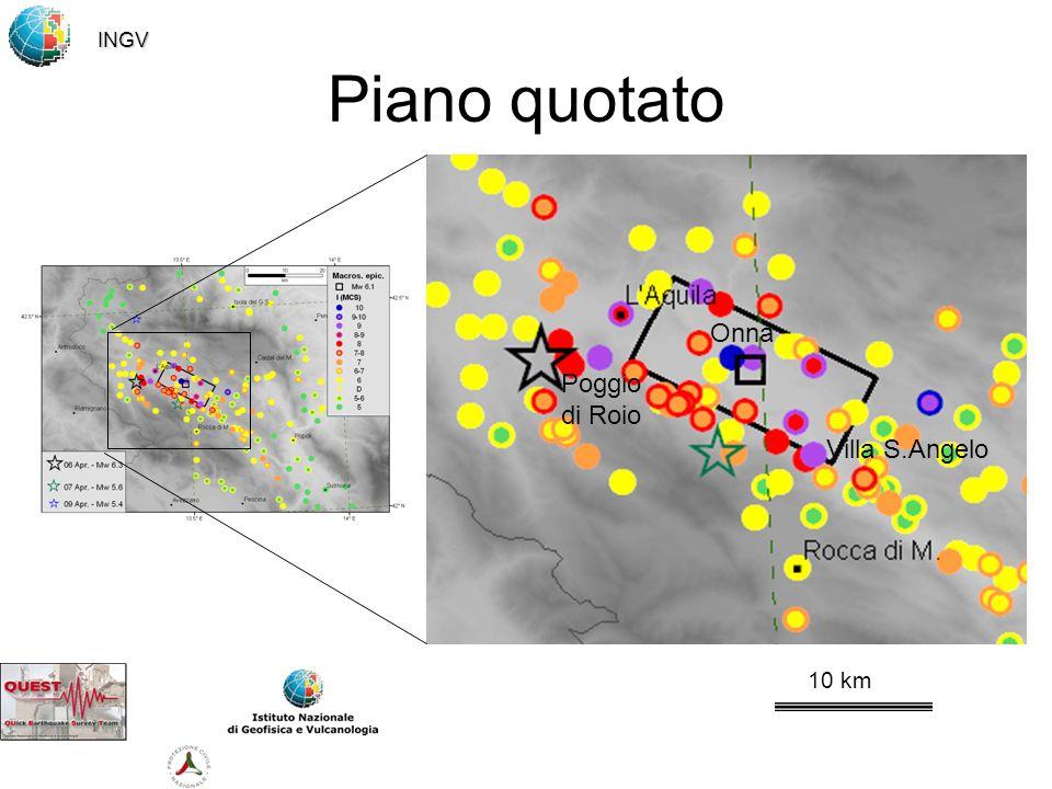 Piano quotato 10 km Onna Villa S.Angelo Poggio di Roio INGV