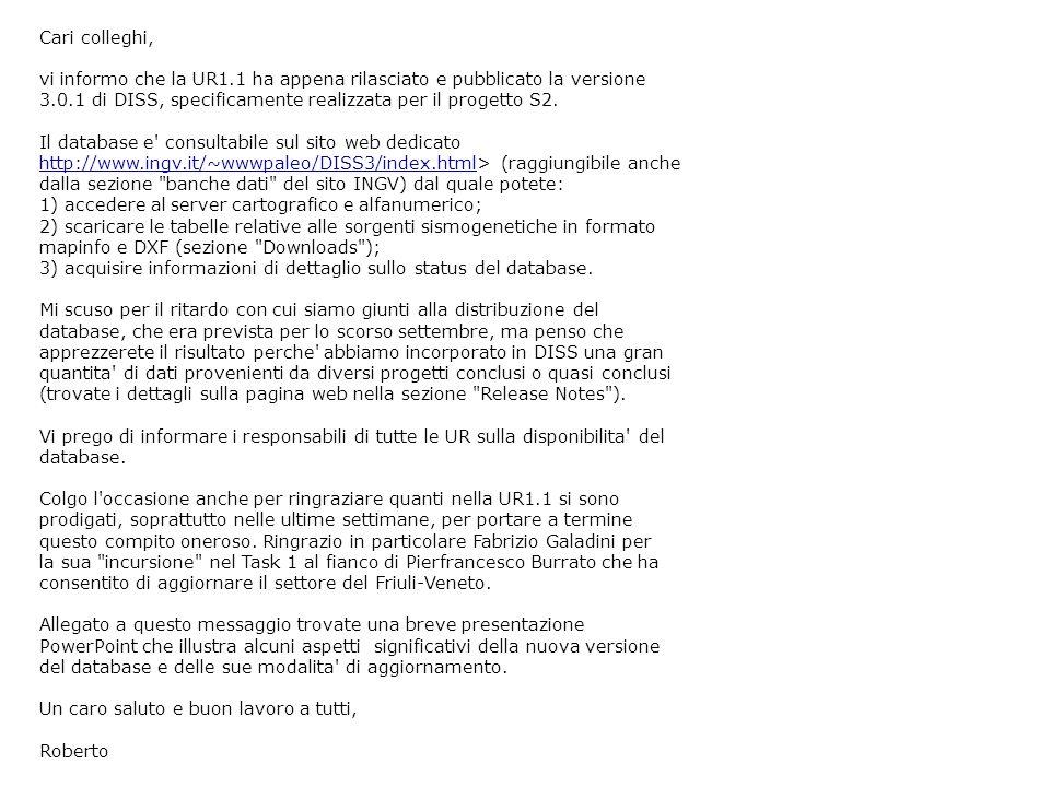 Cari colleghi, vi informo che la UR1.1 ha appena rilasciato e pubblicato la versione 3.0.1 di DISS, specificamente realizzata per il progetto S2. Il d