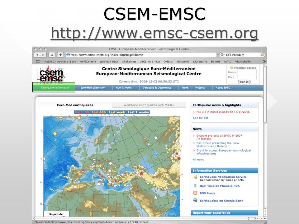 CSEM-EMSC http://www.emsc-csem.org http://www.emsc-csem.org