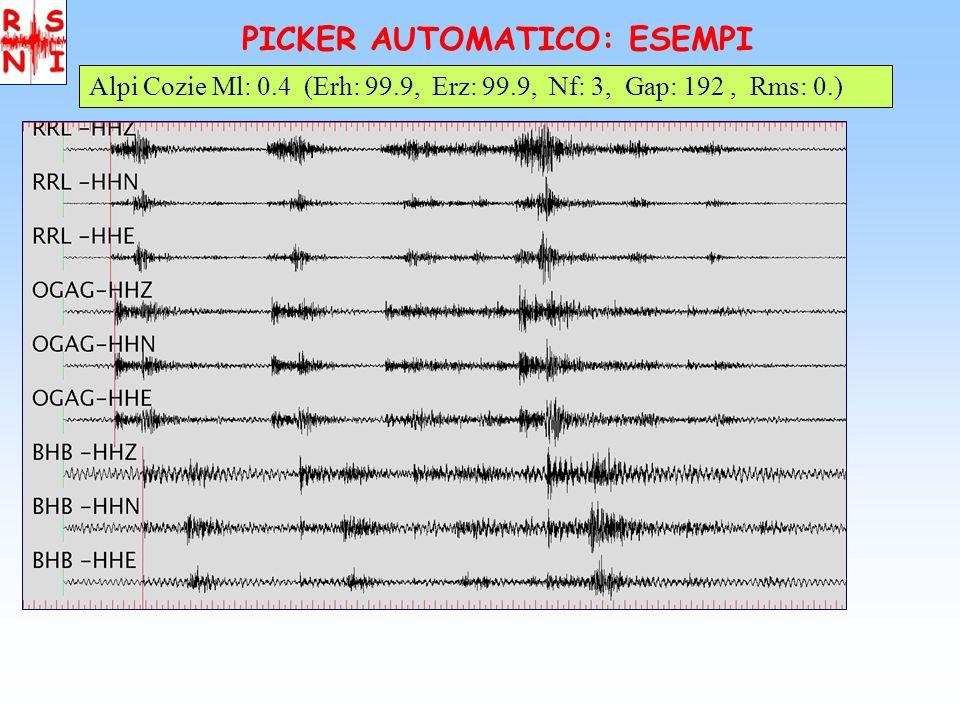 PICKER AUTOMATICO: ESEMPI Alpi Cozie Ml: 0.4 (Erh: 99.9, Erz: 99.9, Nf: 3, Gap: 192, Rms: 0.)