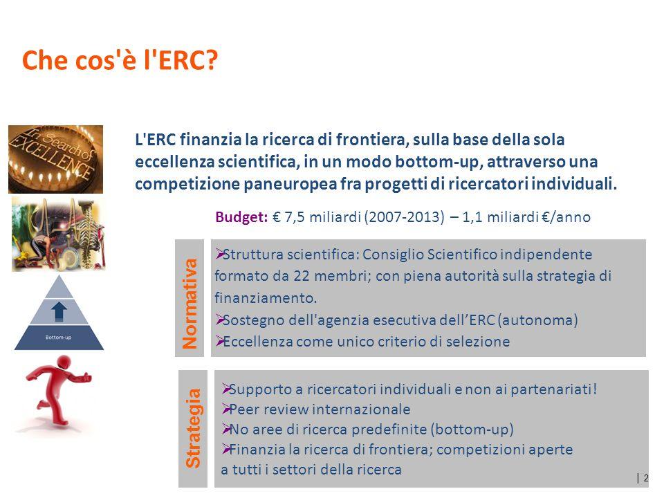 13 La mobilità dei ricercatori ERC Starting Grant 2007-2013 ERC Advanced Grant 2008-2013 Istituti ospitanti attuali dati al 09/09/2013 149 ricercatori italiani all estero