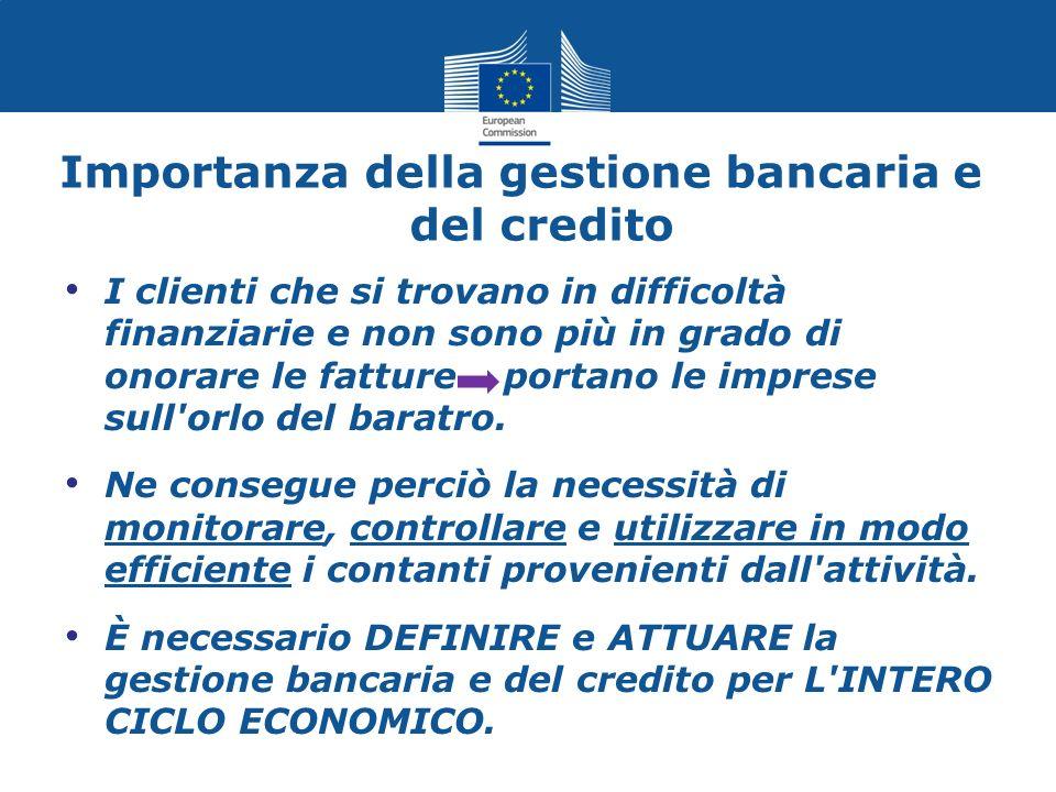 Principi della gestione del flusso di cassa La gestione bancaria e del credito ha la stessa importanza delle vendite e del marketing.