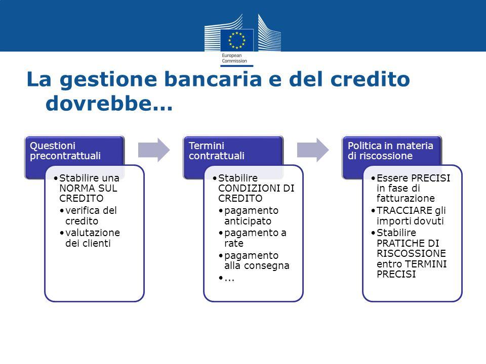 La gestione bancaria e del credito dovrebbe...