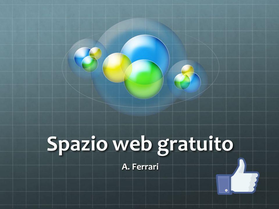 Spazio web gratuito A. Ferrari