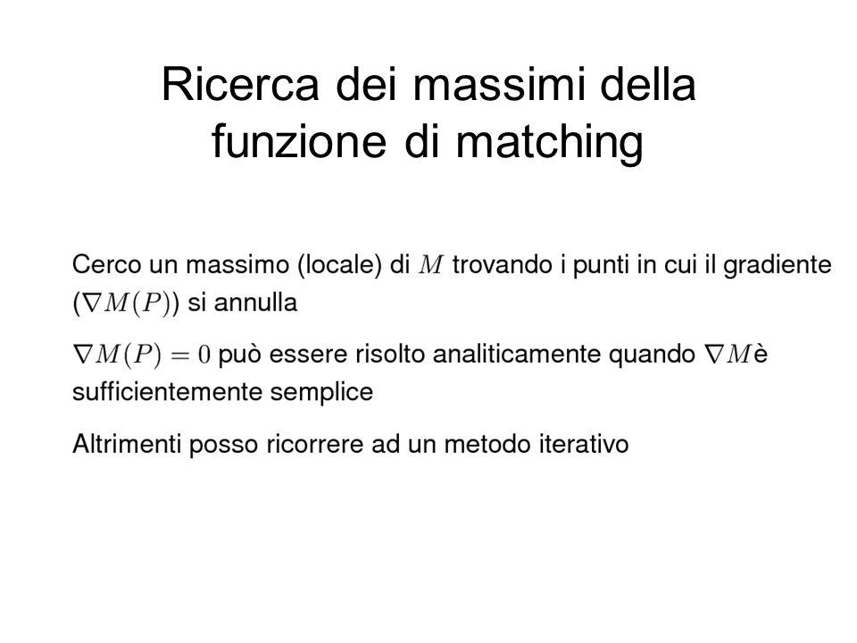 Ricerca dei massimi della funzione di matching