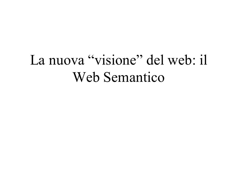 Il WWW Un (immensa) rete di collegamenti fra pagine che contengono svariati tipi di risorse: –Documenti testuali e multimediali –Basi i dati –Servizi: prenotazioni on-line, web assistant..