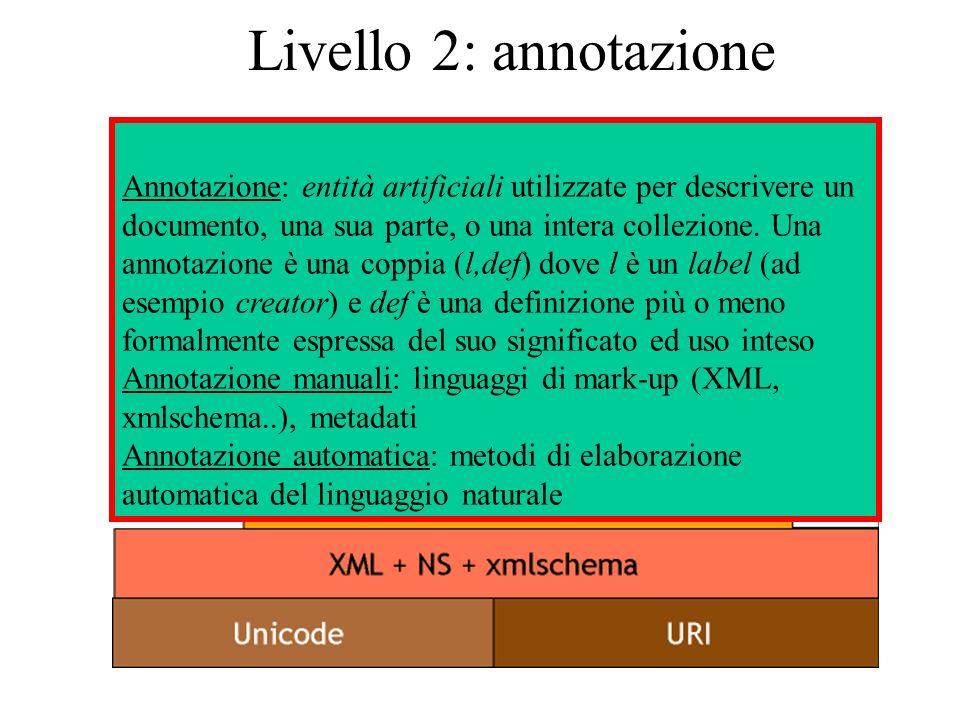 Linguaggi di mark-up: XML eXtensible Mark- up Language