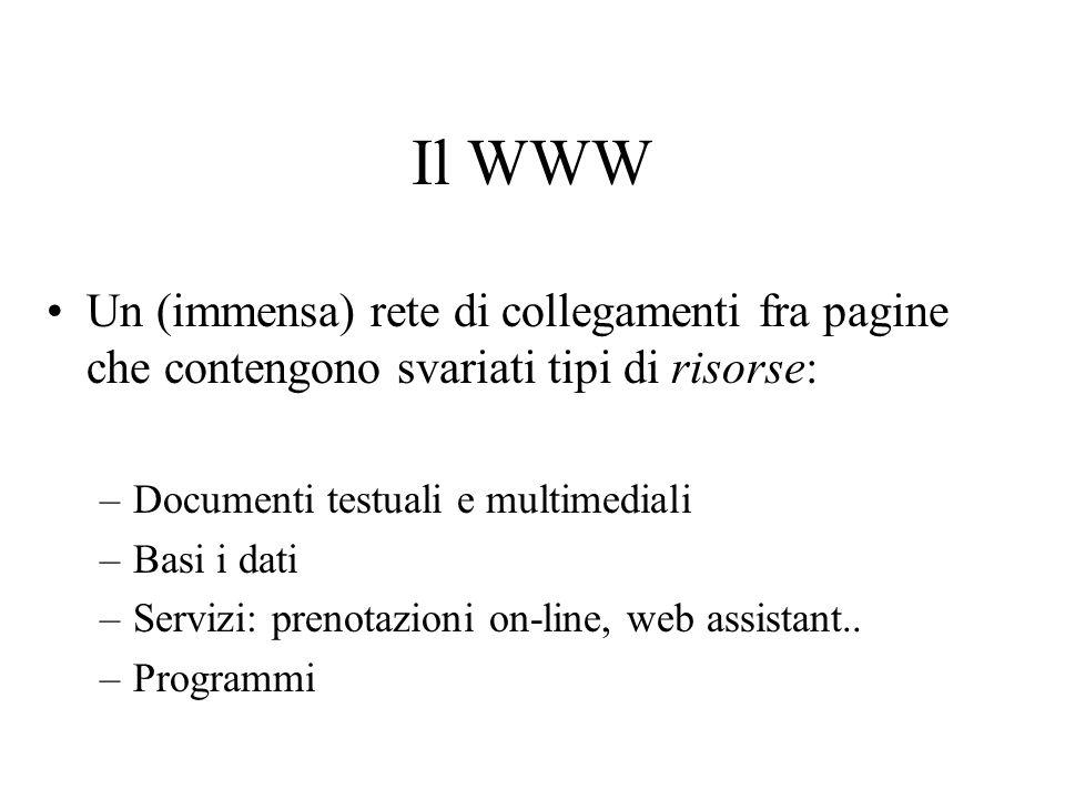 Problema: accessibilità dei contenuti Come si accede alle informazioni sul web.