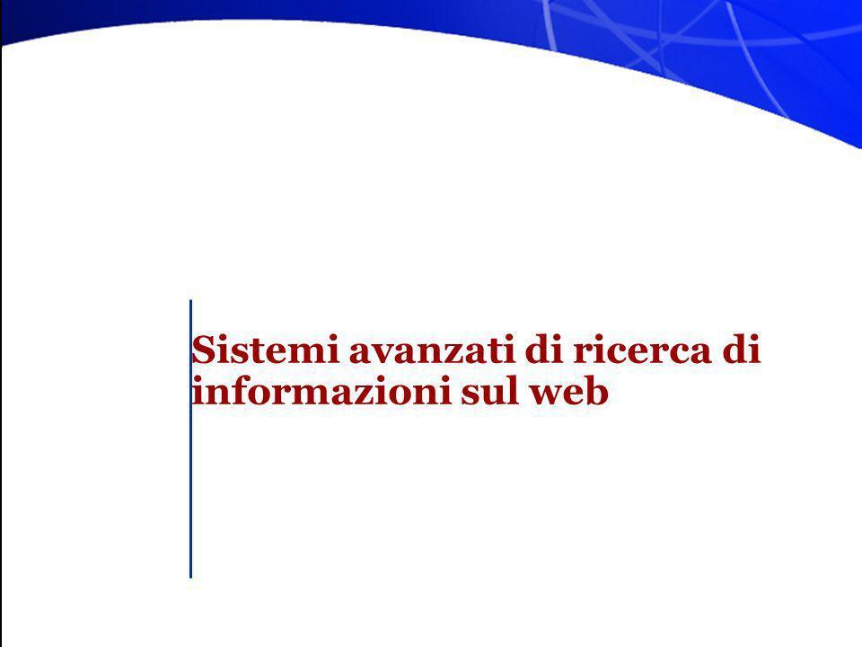 Sistemi avanzati di ricerca di informazioni sul web
